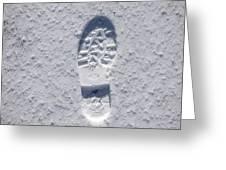 Footprint In Snow Greeting Card