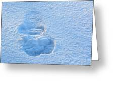 Footprint In The Snow Greeting Card