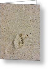 Footprint Greeting Card