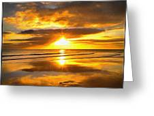 Footsteps  Beneath The Sunset I  Greeting Card