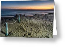 Footsteps In The Sand Greeting Card