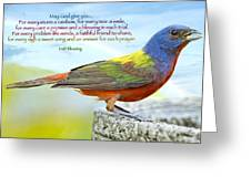 For Every Storm A Rainbow Irish Blessing Greeting Card