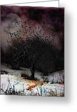 for Sledding and Starlings Greeting Card