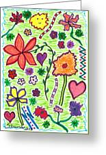 For The Love Of Flowers Greeting Card