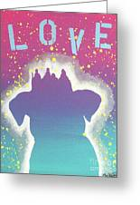 For The Love Of Pups Greeting Card
