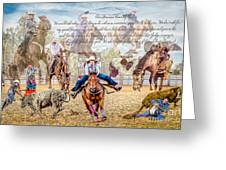 For The Love Of Rodeo II Greeting Card