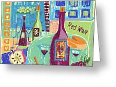 For The Love Of Wine Greeting Card