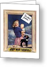 For Their Future Buy War Bonds Greeting Card