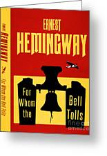 For Whom The Bell Tolls Book Cover Poster Art 1 Greeting Card