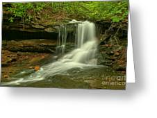 Forbes State Forest Cole Run Cave Falls Greeting Card