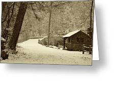 Forbidden Drive In Winter Greeting Card