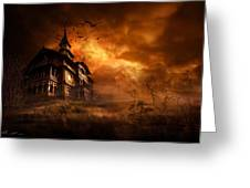Forbidden Mansion Greeting Card by Svetlana Sewell