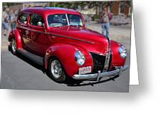 Ford 40 In Red Greeting Card