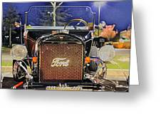Ford Black Hot Rod Old School Greeting Card