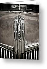 Ford Chrome Grille Greeting Card