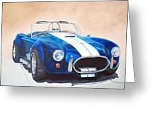 Ford Cobra In Oil Greeting Card