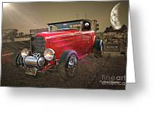 Ford Coupe Cartoon Photo Abstract Greeting Card
