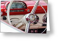 Ford Crown Victoria Stering Wheel Greeting Card