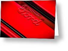 Ford Emblem -0841c Greeting Card