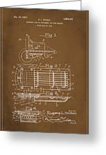 Ford Engine Lubricant Cooling Attachment Patent Drawing 1a Greeting Card