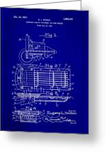 Ford Engine Lubricant Cooling Attachment Patent Drawing 1c Greeting Card