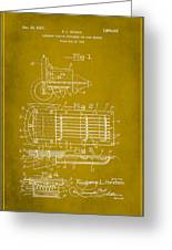 Ford Engine Lubricant Cooling Attachment Patent Drawing 1d Greeting Card
