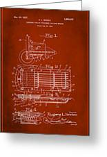 Ford Engine Lubricant Cooling Attachment Patent Drawing 1g Greeting Card