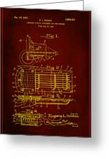 Ford Engine Lubricant Cooling Attachment Patent Drawing 1h Greeting Card