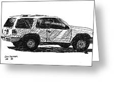 Ford Explorer Greeting Card