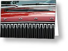 Ford Falcon Details Greeting Card