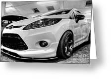 Ford Fiesta In Hdr Greeting Card