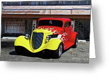 Ford Flaming Hot Rod Greeting Card