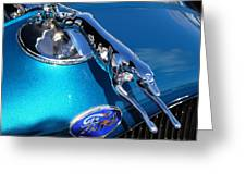 Ford Greyhound Hood Ornament Greeting Card