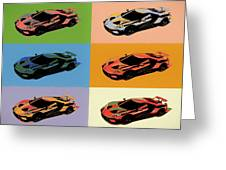 Ford Gt Pop Art Greeting Card