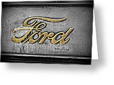 Ford Made In The Usa Greeting Card