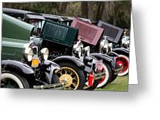 Ford Model A Line Up Greeting Card