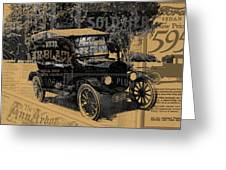 Ford Model T Made Using Found Objects Greeting Card