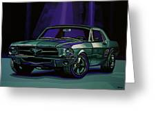 Ford Mustang 1967 Painting Greeting Card