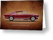 Ford Mustang Fastback 1965 Greeting Card