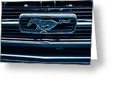 Ford Mustang Grille Greeting Card