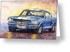 Ford Mustang Gt 350 1966 Greeting Card