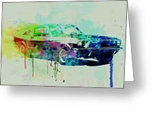 Ford Mustang Watercolor 2 Greeting Card