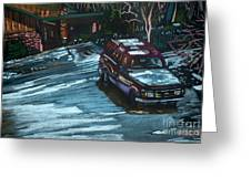Ford Range In The Snow Greeting Card