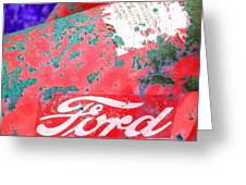 Ford Red Greeting Card
