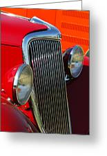 Ford Roadster Grille Greeting Card