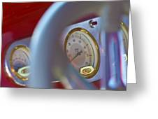Ford Speedometer Greeting Card