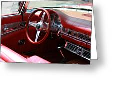 Ford Thunderbird 57 Interior Greeting Card