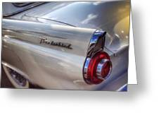 Ford Thunderbird Fender Color  Greeting Card