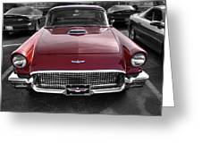 Ford Thunderbird Red V1 Greeting Card