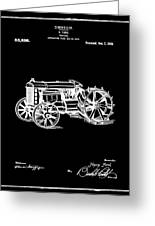 Ford Tractor Patent 1919 Black Greeting Card